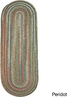 product image for Rhody Rug Charisma Braided Oval Indoor/Outdoor Runner Rug (2' x 8') Peridot
