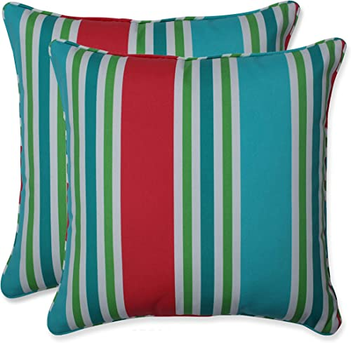 Pillow Perfect Outdoor/Indoor Aruba Stripe Throw Pillow