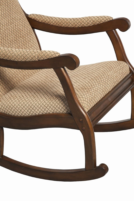 Amazon.com: Furniture Of America Betty Rocking Chair, Antique Oak: Kitchen  U0026 Dining
