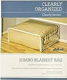 "Jumbo Clothes Bag - Heavy Duty Vinyl Storage Bag (Clear) (25"" x 21"" x 11"")"
