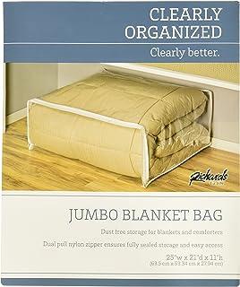 Richards Homewares Clear Vinyl Jumbo Blanket Bag (4-Pack) & Amazon.com: 1 Dozen Clear King Size Comforter Storage Bags 12 Bag ...