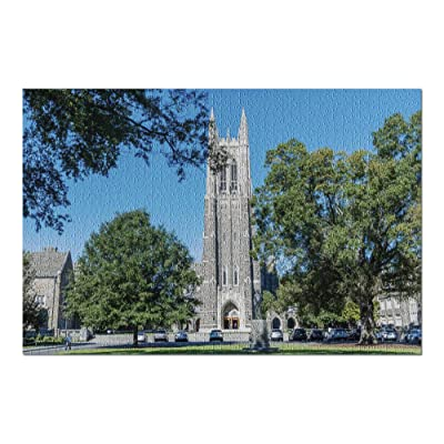 Durham, North Carolina - Front View of The Duke Chapel Tower in Early Fall 9015667 (Premium 1000 Piece Jigsaw Puzzle for Adults, 20x30, Made in USA!): Toys & Games