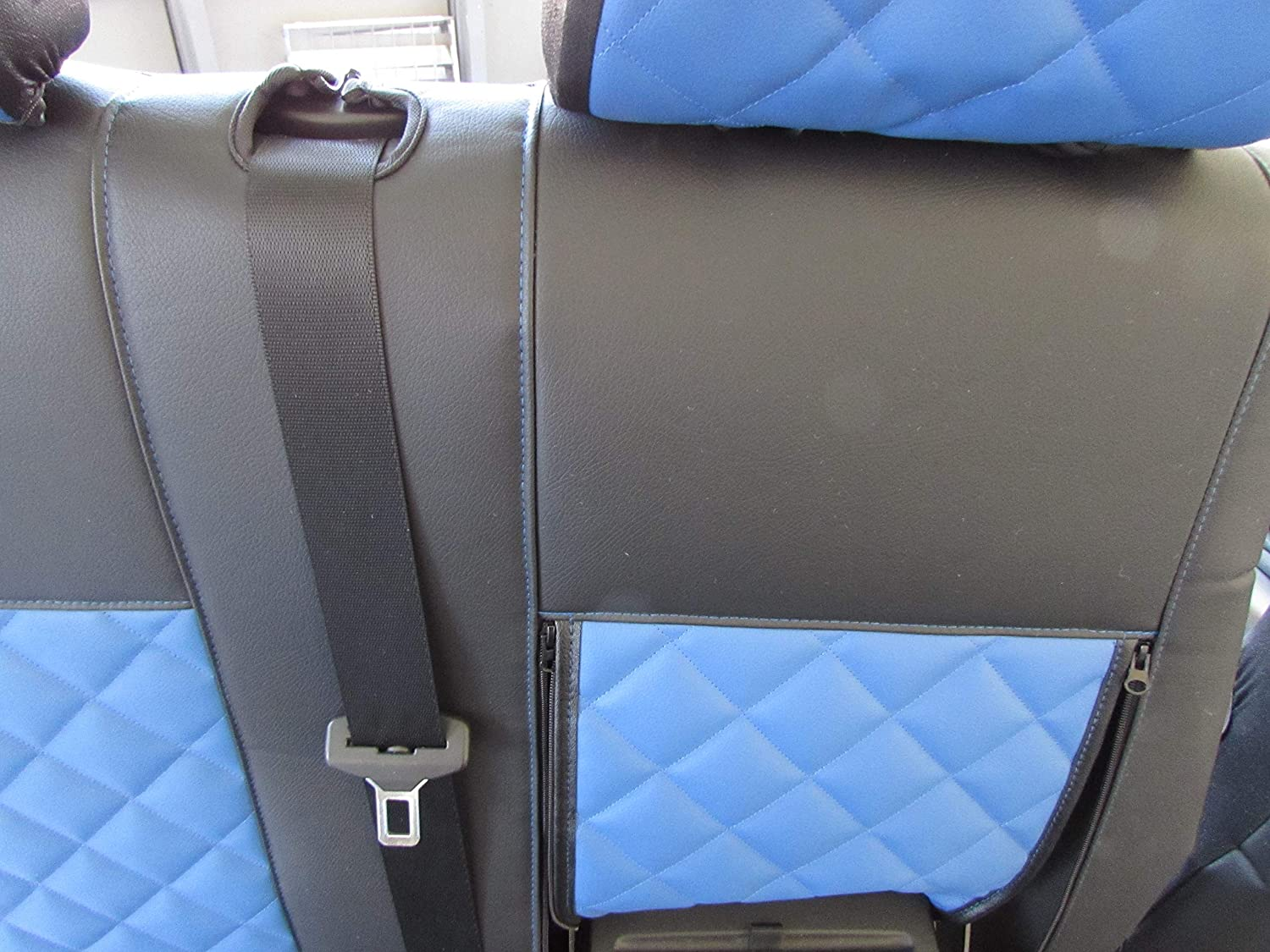 1 single 1 double VW CRAFTER 2006-2018 RHD BLACK-BLUE ECO LEATHER Seat Covers 2+1 Texmar Designed to fit MERCEDES SPRINTER 2006-2018
