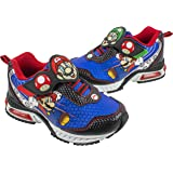 Super Mario Brothers Mario and Luigi Kids Tennis Shoe, Light Up Sneaker, Mix Match Runner Trainer, Kids Size 11 to 3