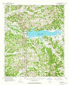 YellowMaps Oakland MS topo map, 1:62500 Scale, 15 X 15 Minute, Historical, 1954, Updated 1965, 20.9 x 16.9 in