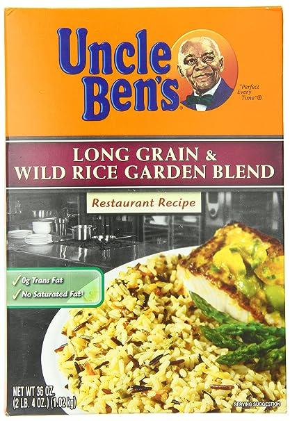 Amazon.com : Uncle Bens Long Grain Wild Rice Garden Blend, 36 Ounce : Rice Produce : Grocery & Gourmet Food