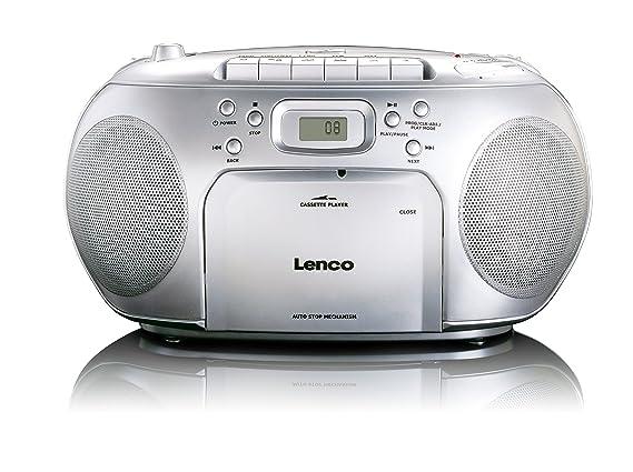 Lenco scd 420 silver tragbares ukw radio mit toplader cd spieler und