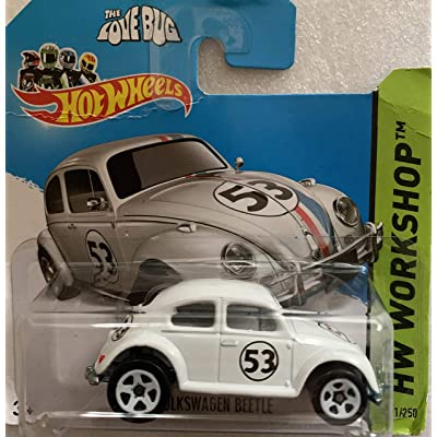 2014 Hot Wheels Hw Workshop 191/250 - Herbie The Love Bug Volkswagen Beetle - [Ships in a Box!]: Toys & Games