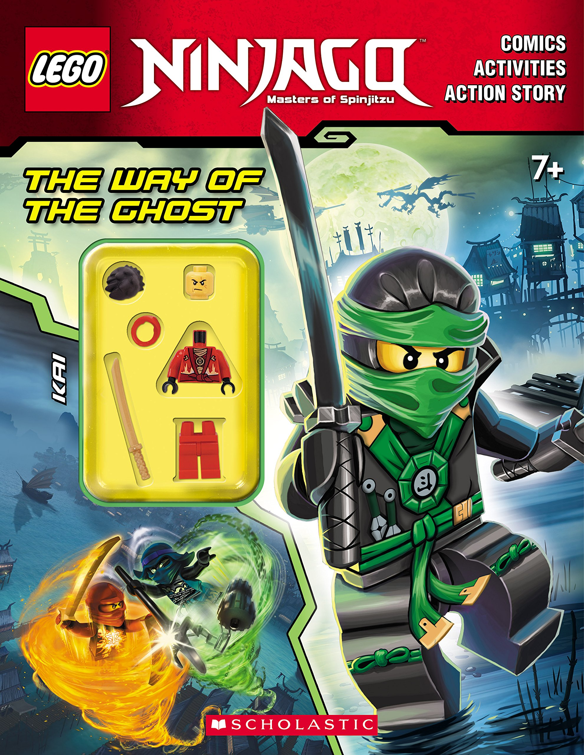 the way of the ghost lego ninjago activity book with minifigure