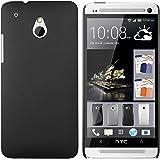 mumbi Schutzhülle für HTC One mini Hülle (harte Rückseite) matt schwarz