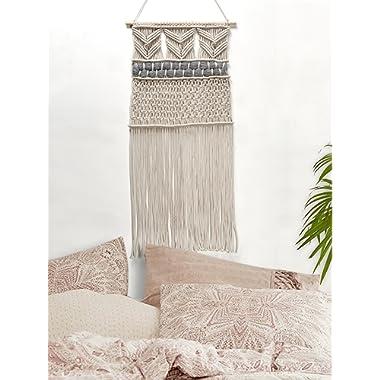 "RawyalCrafts Handmade Macrame Wall Hanging- Woven Wall Art- Macrame Tapestry-Boho Wall Decor- Textile Wall hanging – 36""L X 15""W By"