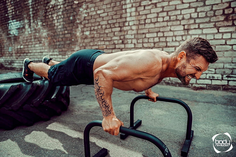 Body Revolution Parallette Bars Medium Parallel Bars /& Dip Station Parallettes for Calistenics Crossfit /& Gymnastics Exercises