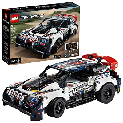 LEGO Technic App-Controlled Top Gear Rally Car 42109 Racing Toy Building Kit, New 2020 (463 Pieces): Toys & Games
