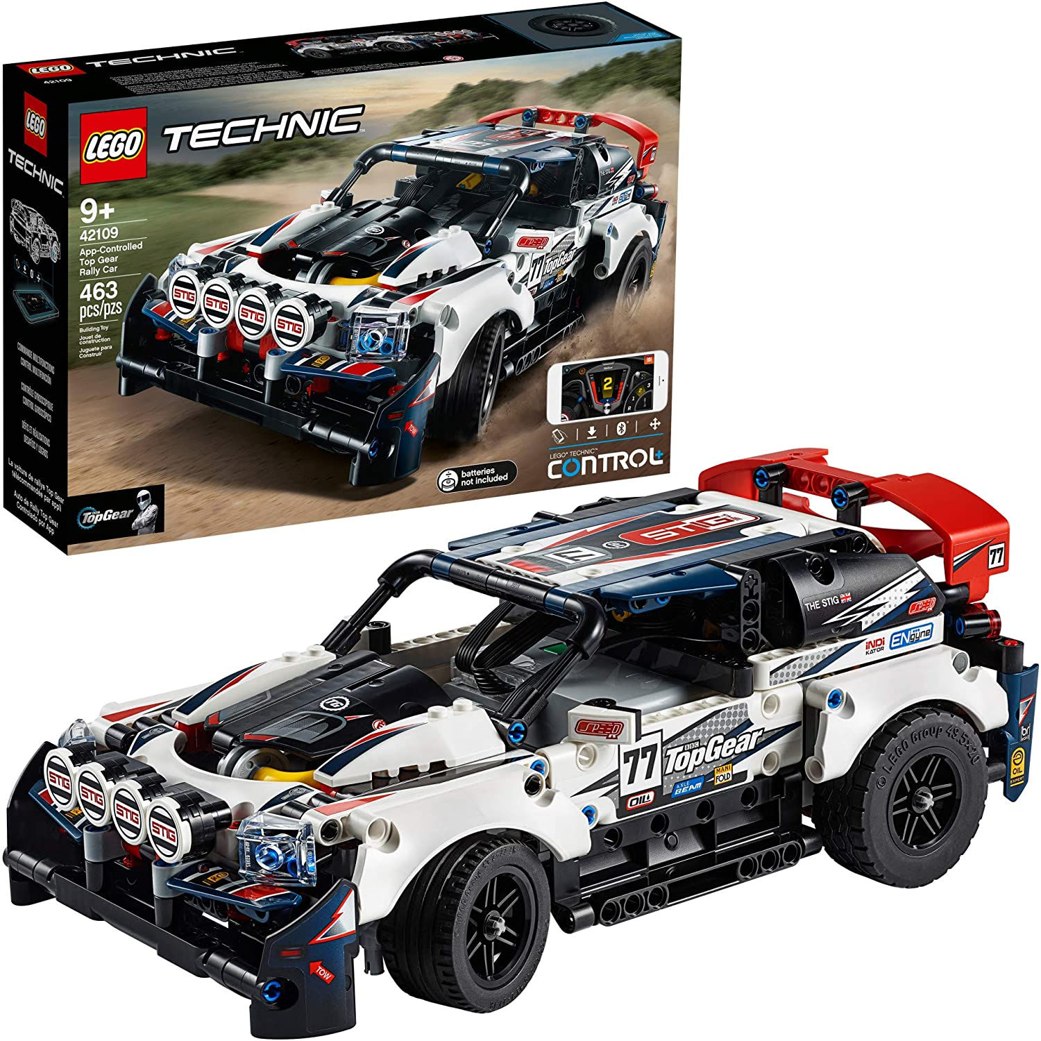 Amazon Com Lego Technic App Controlled Top Gear Rally Car 42109 Racing Toy Building Kit New 2020 463 Pieces Toys Games