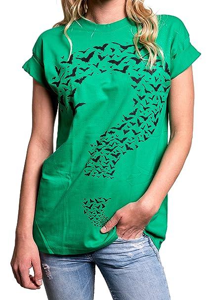 MAKAYA Frikis Top Oversize Manga Corta - Interrogante - Camiseta Ancha Mujer Tallas Grandes: Amazon.es: Ropa y accesorios