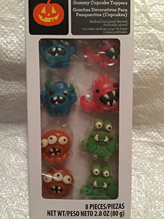 Gummy Cupcake Toppers~Silly Monsters