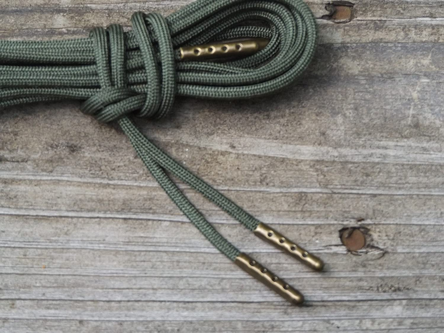 OD Green Boot Laces *Guaranteed for Life* 3mm Paracord Steel Tip Shoelaces