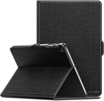 INFILAND Samsung Galaxy Tab A de 10.1 Pulgada 2019 Estuche Protector, apoyado Desde el Frente, Funda para Samsung Galaxy Tab A de 10.1 Pulgada 2019 versión(T510/T515),Negro: Amazon.es: Electrónica
