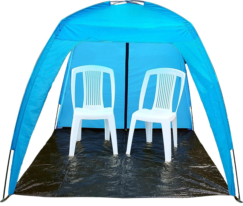 1,77x1,77 m Anti rayos UV: /¡Sombra para toda la familia Larga carpa de playa /'Neptune/' para 6 personas Carpa de f/ácil de instalaci/ón para fiestas eventos deportivos parque y jard/ín.