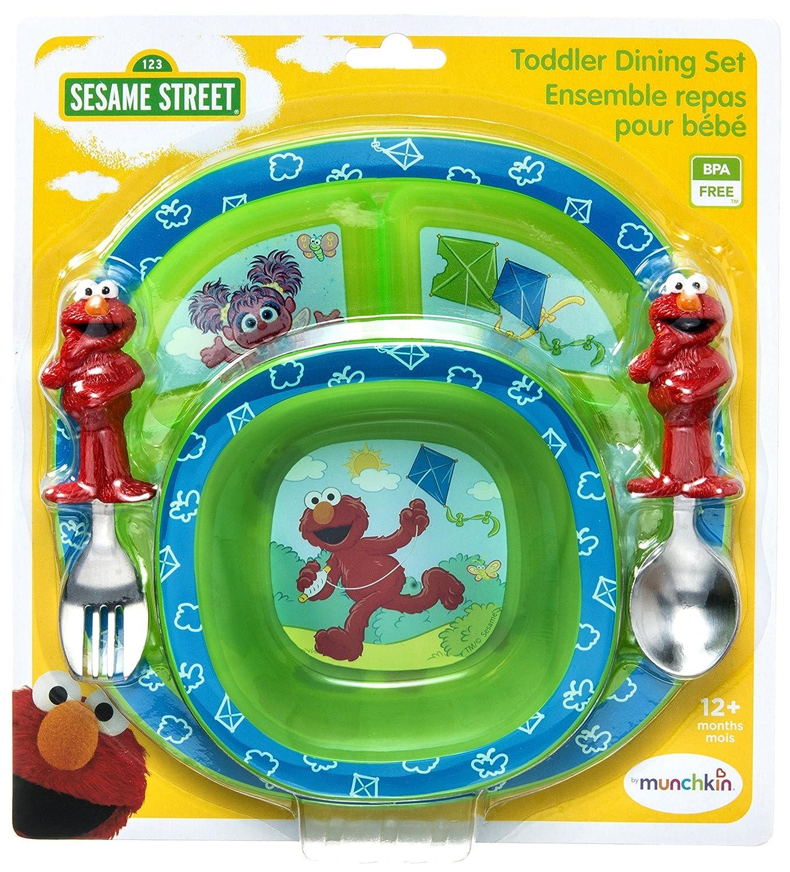 Amazon.com  Munchkin Sesame Street Dining Set  Baby Dinnerware Sets  Baby  sc 1 st  Amazon.com & Amazon.com : Munchkin Sesame Street Dining Set : Baby Dinnerware ...