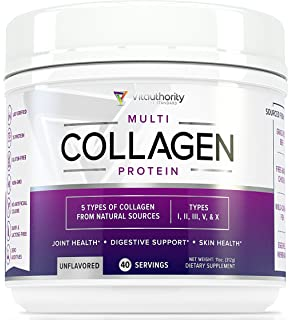 Multi Collagen Peptides Powder: 40 SRV Anti Aging Super Youth Powder with Hydrolyzed Collagen Protein