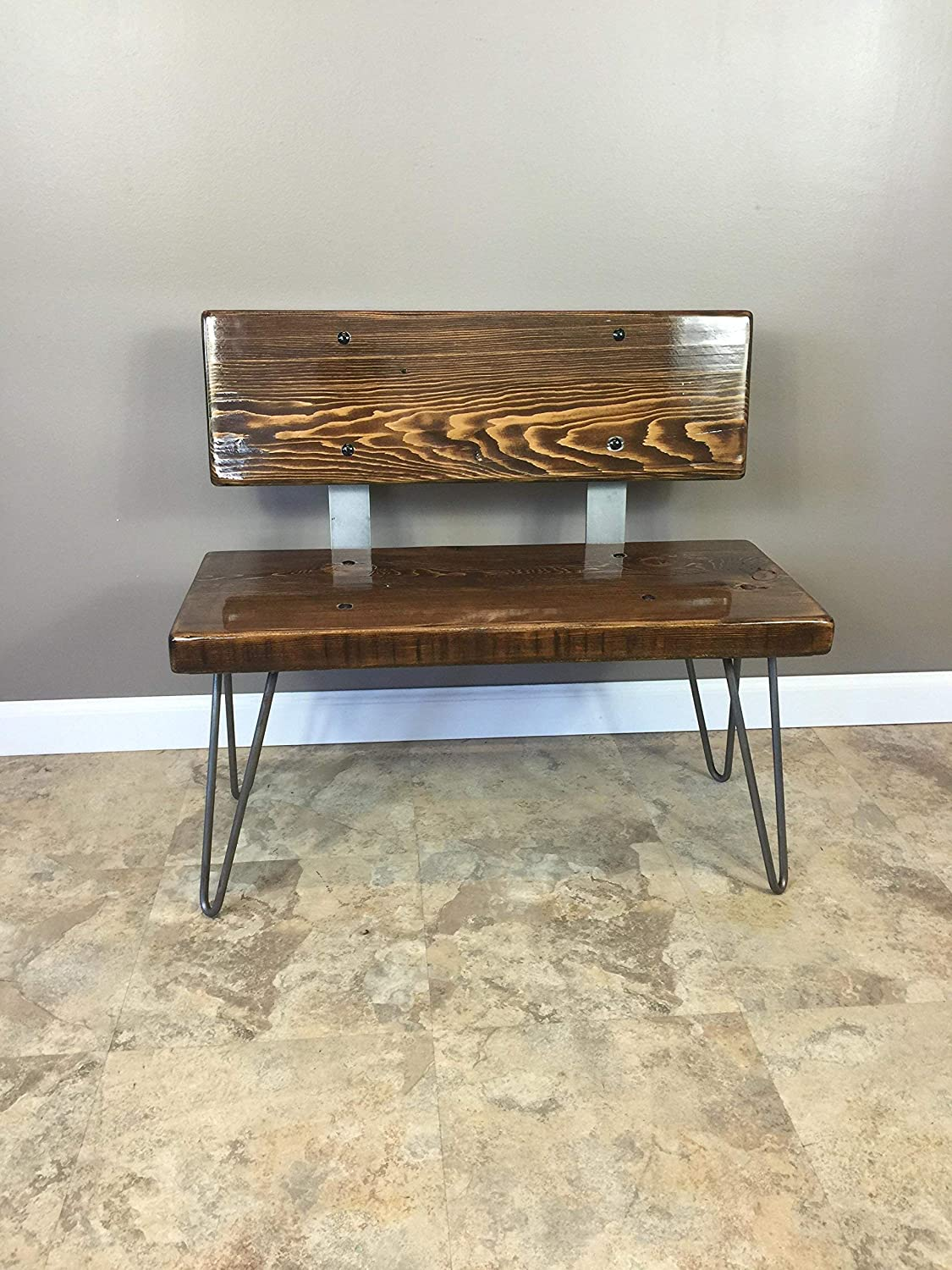 Wood Bench Wooden Bench Hairpin Reclaimed Wood Bench Wooden Furniture Handmade from Barn Wood