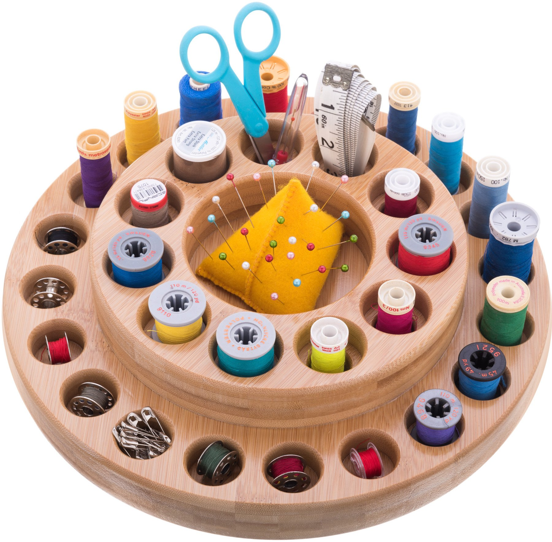 Essential Oil Wooden Storage Lazy Susan - use for sewing supplies