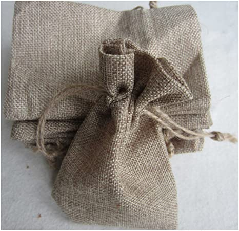 Amazon.com: Natural Burlap regalo bag-lebeila bolsas de yute ...