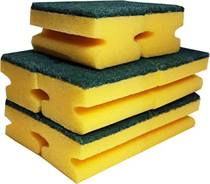 Grande esponja estropajo.:. No cero.:. Para cocinas, baños y Heavy Duty limpieza.:. Pack de 10: Amazon.es: Hogar