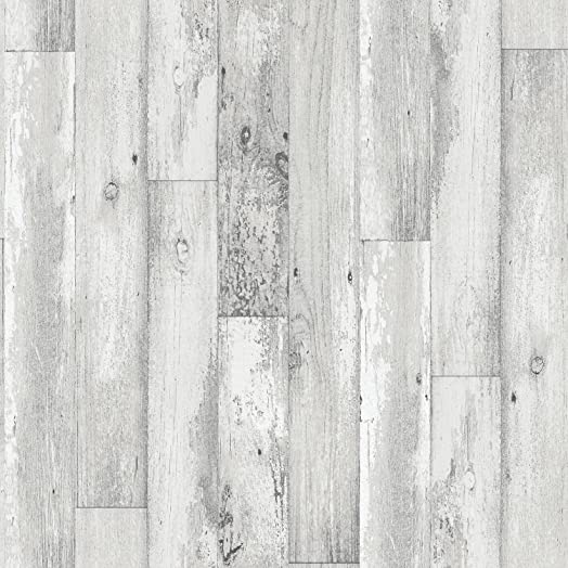 Galerie Memories 2 G56166 Rustic White Grey Wood Plank Effect Feature Wallpaper
