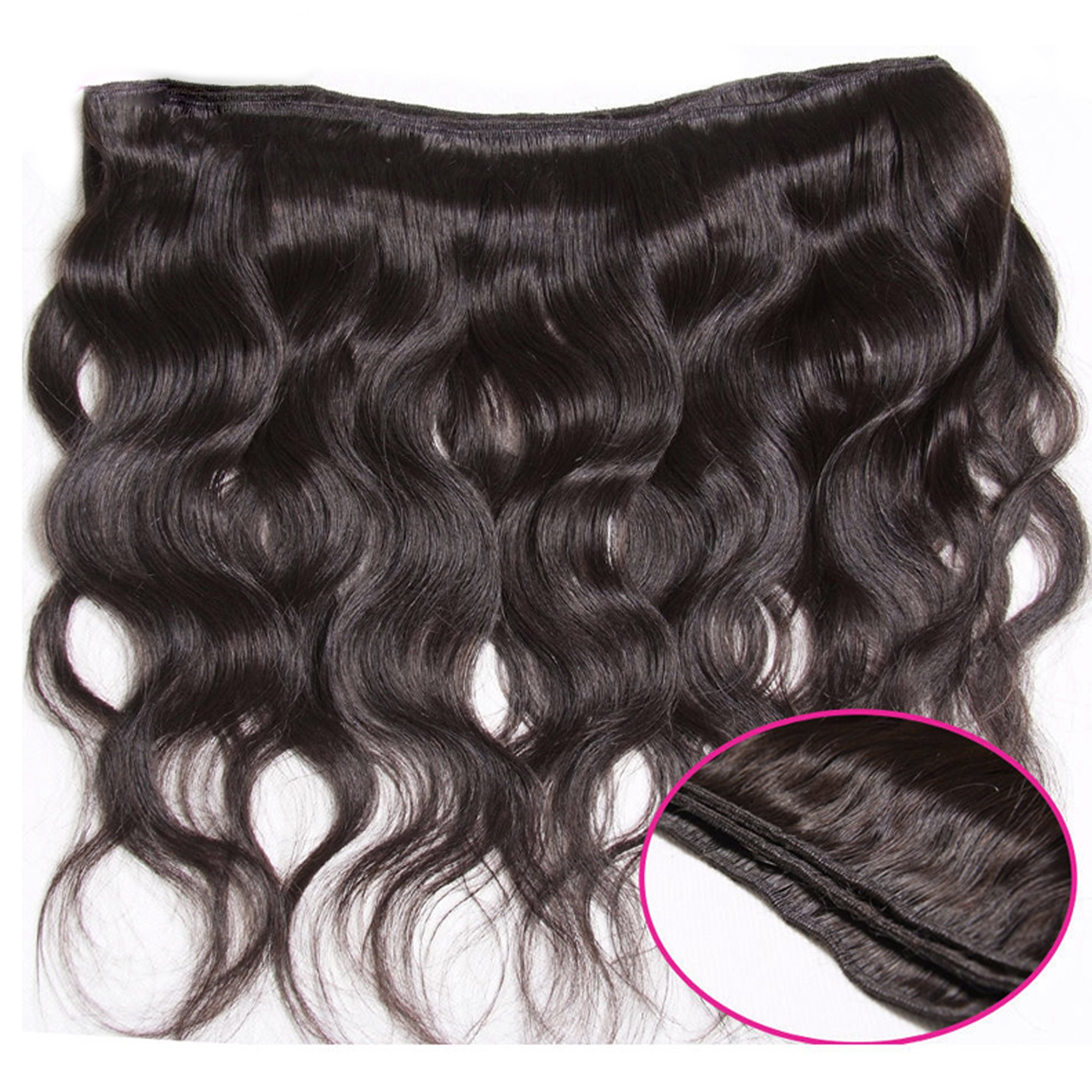 Unice Hair 18 20 22inch Brazilian Virgin Human Hair Weave 3 Bundles Deal Brazilian Body Wave Hair Weft Extensions Natural Color by UNICE (Image #5)