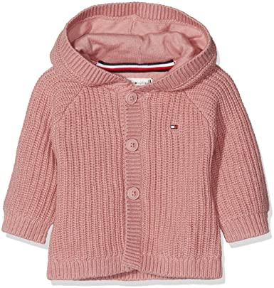 Tommy Hilfiger Unisex Baby Textured Hooded Cardigan Kapuzenpullover