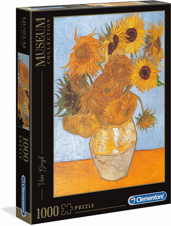 Clementoni, Diseño Van Gogh: Los Girasoles. Puzzle 1000 Piezas ...