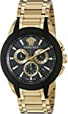 Versace Men's VQN060015 Character Gold-Tone Stainless Steel Watch