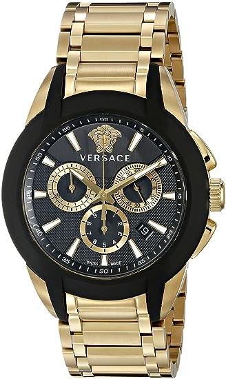 Versace VQN060015 - Reloj de Pulsera Hombre, Acero Inoxidable, Color Oro: Versace: Amazon.es: Relojes