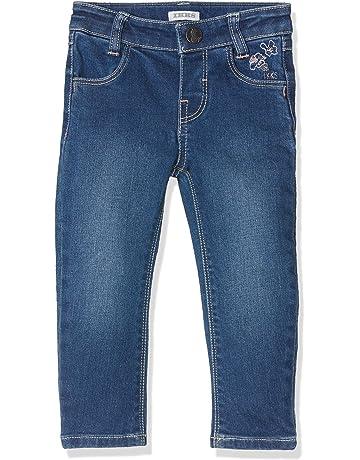 ac424a770d950 IKKS Denim Bleu Broderies, Jeans Bébé Fille