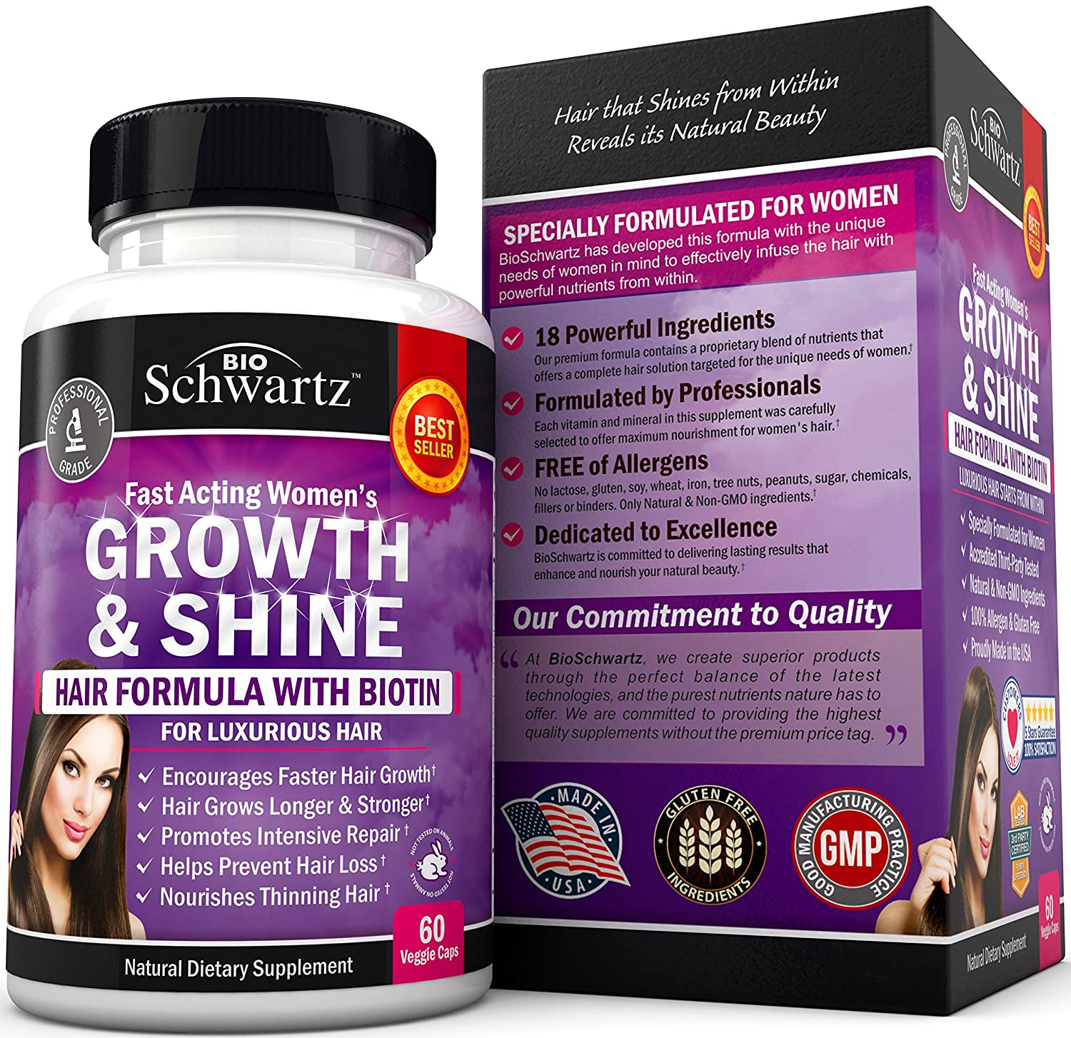 Amazoncom Hair Growth Vitamins With Biotin Exclusive Hair - How much biotin to take for hair growth
