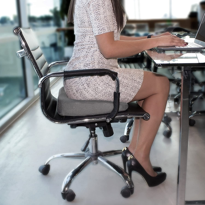 PharMeDoc Coccyx Seat Cushion Gray Extreme Orthopedic fort