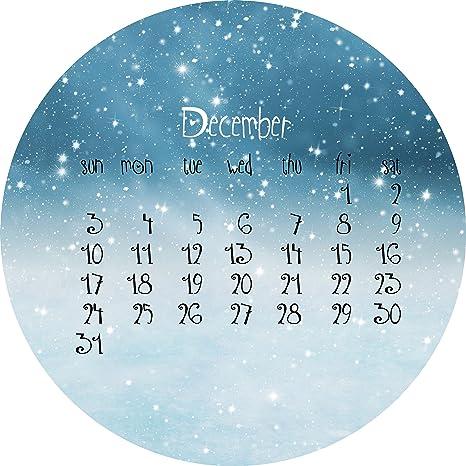 Cartel de Chapa 80,00 cm x 80,00 cm Winter diciembre | Decoración