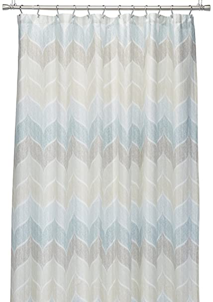 Caro Home Charlotte Buxton Blue Shower Curtain Amazoncouk Kitchen