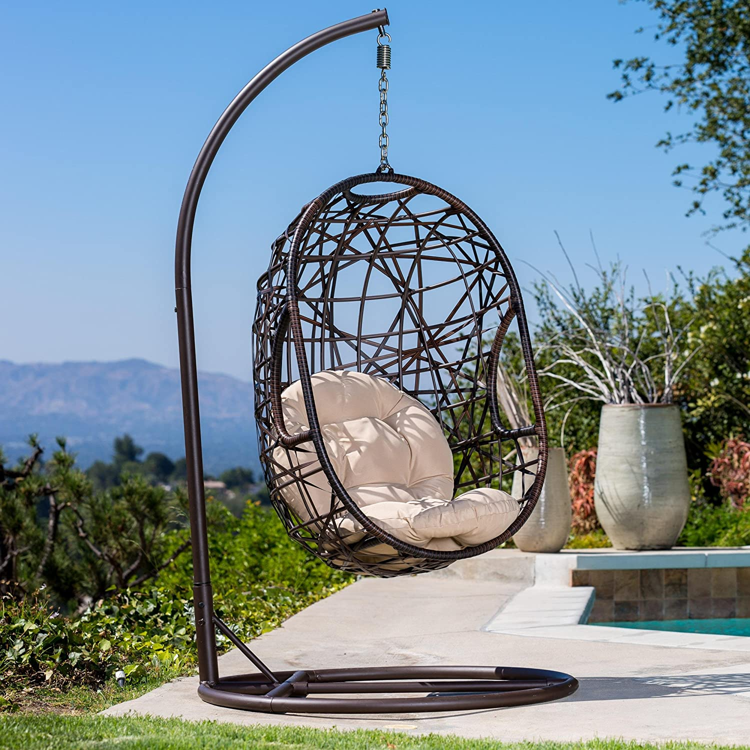 Guerneville Egg Shaped Swing Chair Amazon Home & Kitchen