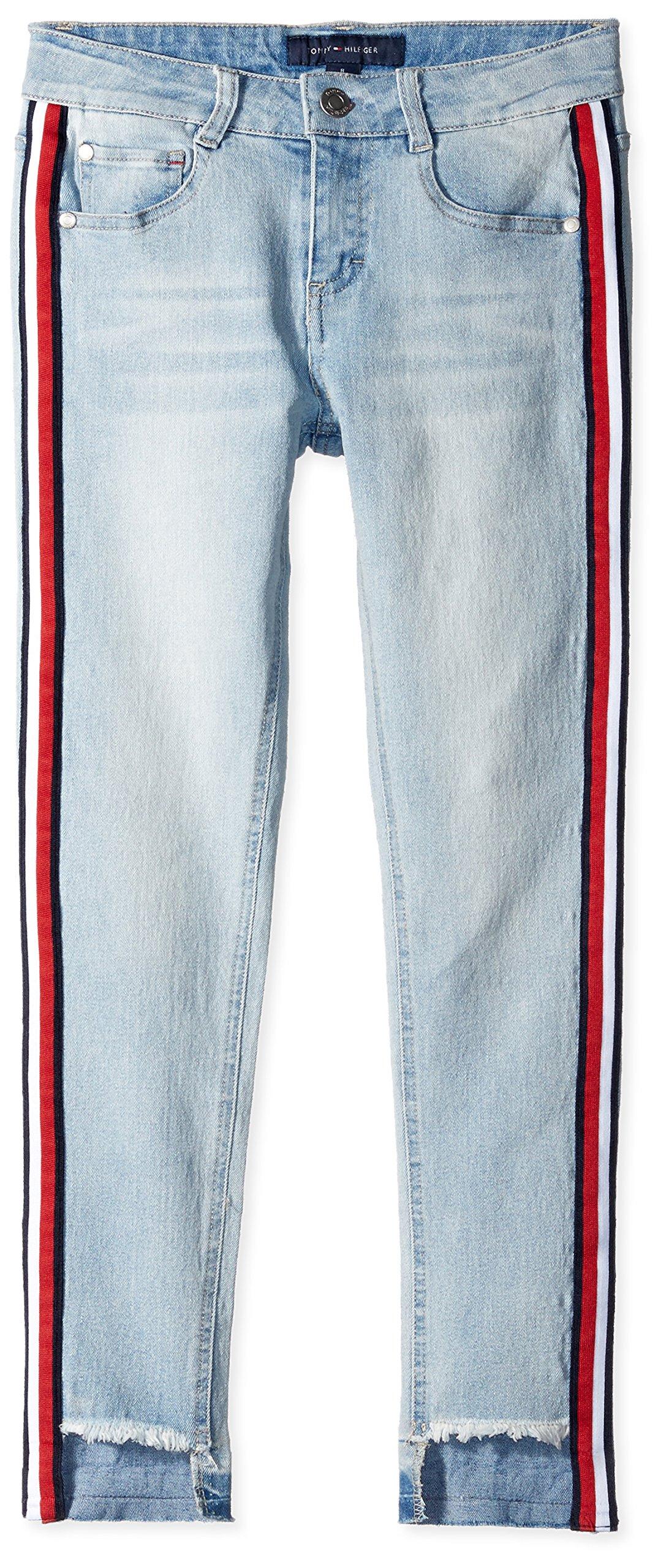 Tommy Hilfiger Girls' Big Stretch Denim Jean, 479 Chelsea WASH, 10