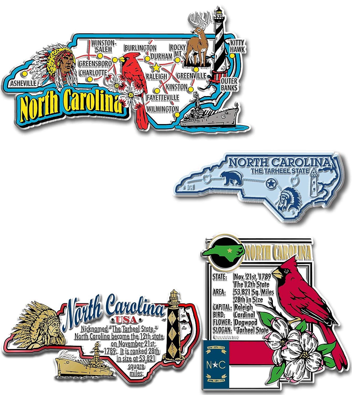 North Carolina Four-Piece State Magnet Set