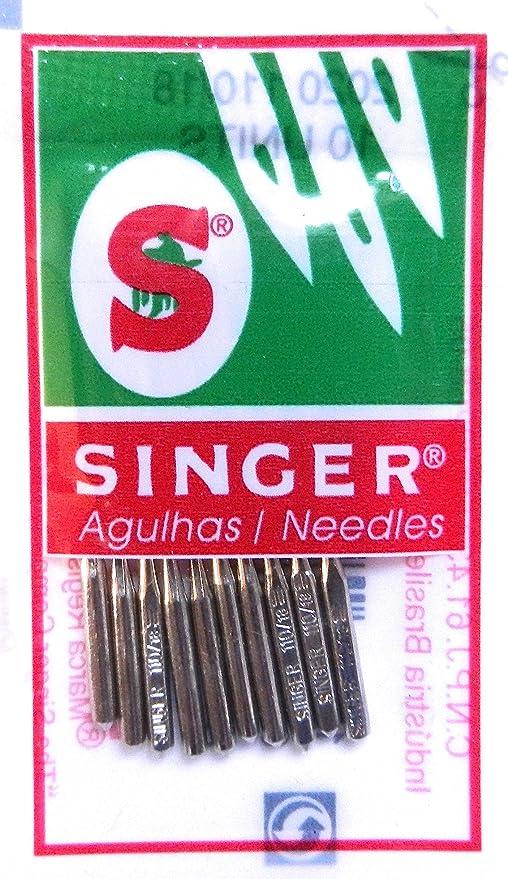 10 agujas para máquinas de coser Singer 2020 grosor 70/9 para ...