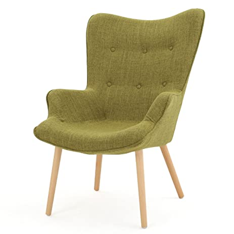 Amazon.com: Franklin Mid Century Modern Muted Fabric Arm Chair ...