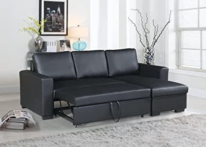 Amazon.com: Living Room Bobkona Convertible Sectional Sofa ...