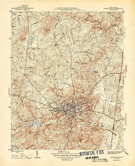 Amazon Com Yellowmaps Chapel Hill Nc Topo Map 1 31680