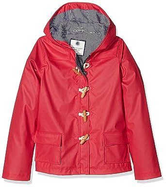 Petit Bateau 23387-Abrigo Niñas Rojo (Caprice) 10 años