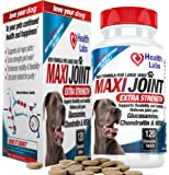 The Health Labs Maxi Joint Strength Glucosamine and Chondroitin Chewable Tablets for Dogs, 120 Tablets