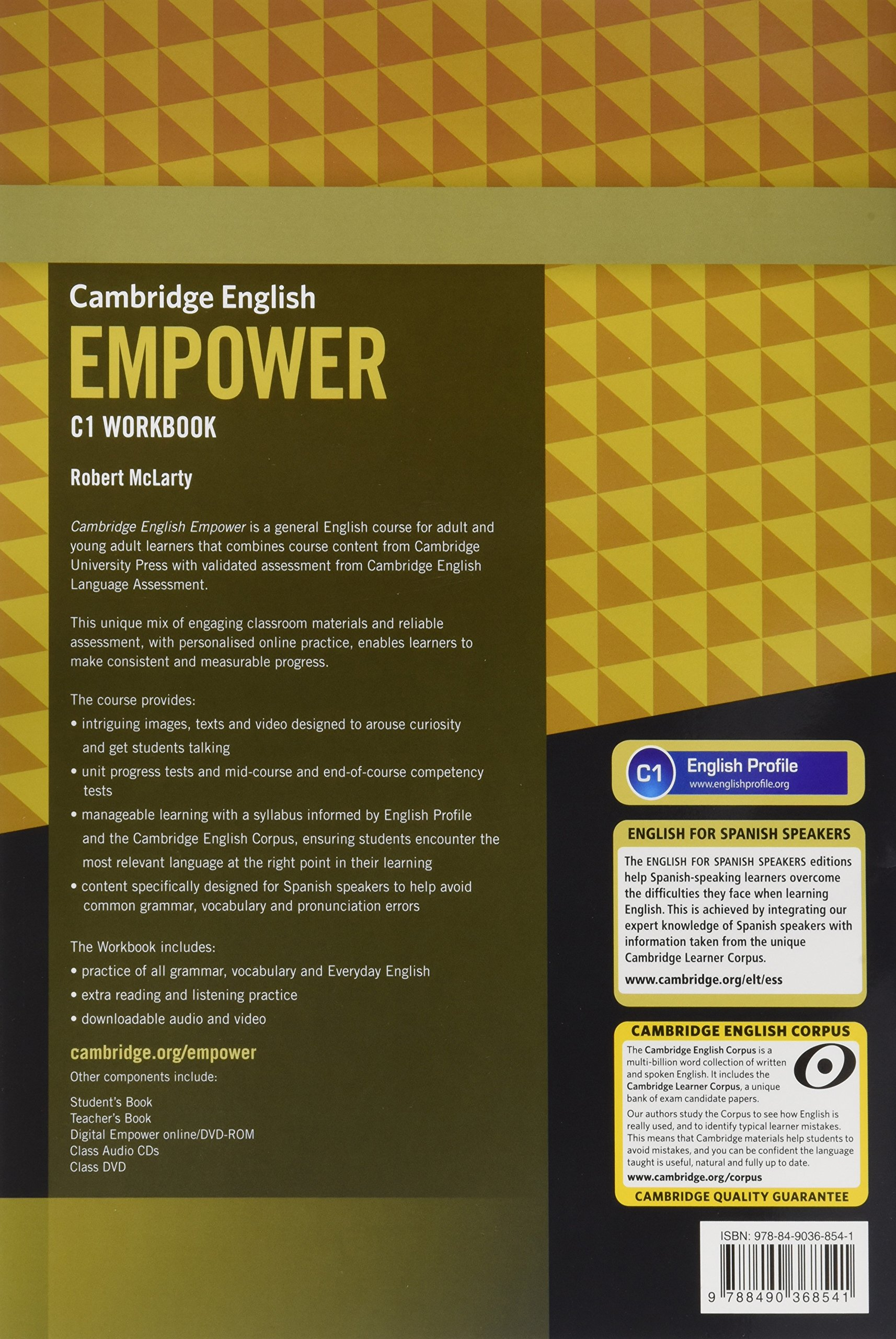 Cambridge English Empower for Spanish Speakers C1 Learning Pack Students Book with Online Assessment and Practice and Workbook: Amazon.es: Doff, Adrian, Thaine, Craig, Puchta, Herbert, Stranks, Jeff, Lewis-Jones, Peter: Libros en idiomas